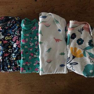 4 piece Carter's onesie set